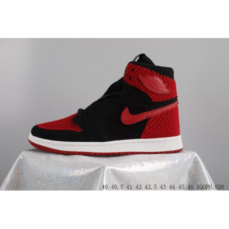 9c0b0c995109 AIR Jordan 1 FLYKNIT Woven Jordan Aj1 Shadow Basketball-shoes XQPPH0307
