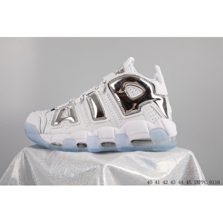 Nike air more uptempo pippen factory lacing leather upper
