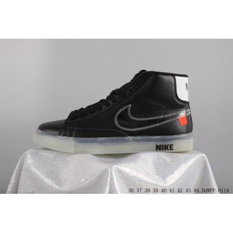 9c3f6a961c76 X Blazer MID Blazer Crossover Limited Edition Skate Shoes Aa3832-001 full  pigskin upper seat