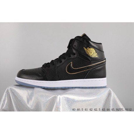 hot sale online cf181 de45f Air Jordan 1 OG Aj1 La Los Angeles All-Star game nba black gold 555088