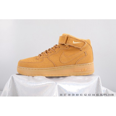 new products 74b11 87af9 Collection High Nike Air Force 1 Air Force One Classic Mai Yellow Leisure  Skate Shoes BXZ0108
