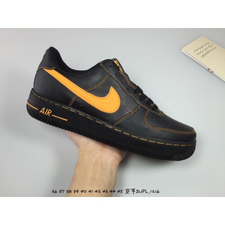 best deals on 53453 0672e Cheap Black Nike Boots,Black Nike Hoodie Cheap,Nike Lab Air Force 1 Low  Vlone AF1 Air Force One Black Orange Crossover