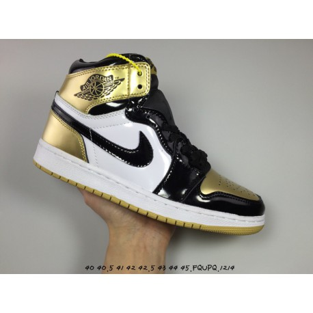best service 15bde 6e400 Introduction  Air Jordan 1 Complexcon Top3 Aj1 Upper Material Black Gold
