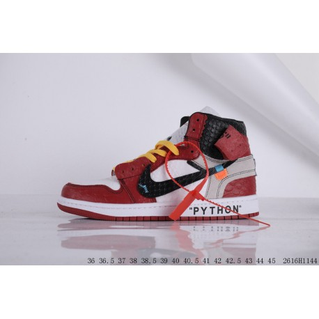 Jordan / Air Jordan Aj1 Jordan 1 Generation OFF-WHITE X Air Jordan 1 Joe 1 OFF Crossover High Basketball-Shoes