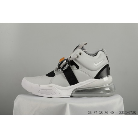 ed37e08f30d Nike Air Force 270 Vintage High Leather Upper Half Palm Air Resilience  Racing Shoes 3232h9728