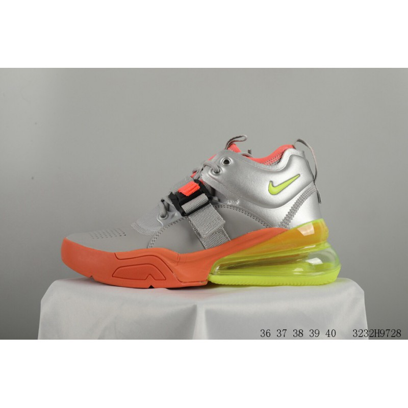 e1b1920142f ... Nike Air Force 270 Vintage High Leather Upper Half Palm Air Resilience  Racing Shoes 3232h9728 ...