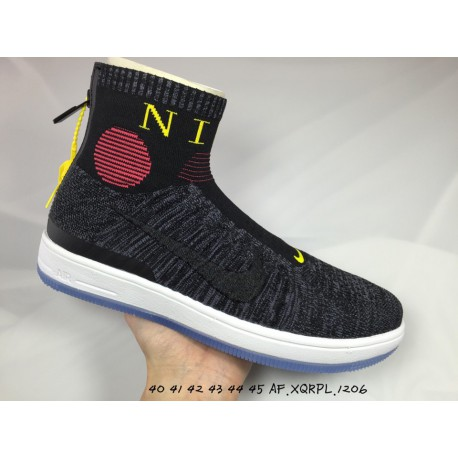 innovative design 3610f 4e27b Nike air force mid flyknit socks shoes mens casual skate shoes