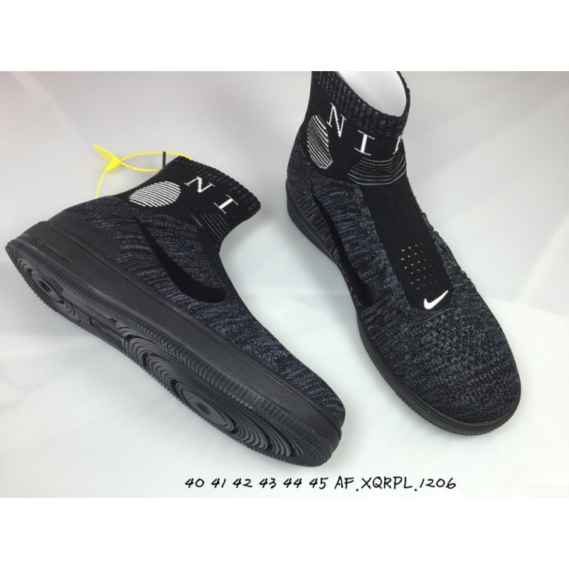 hot sale online f1c47 7c5df ... Nike air force mid flyknit socks shoes mens casual skate shoes ...
