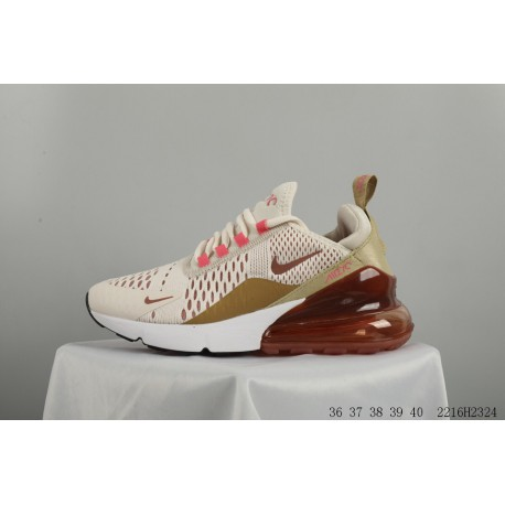 finest selection d2080 f6b27 Nike air max 270 jacquard mesh breathable rear half palm air trainers shoes  2216h2324