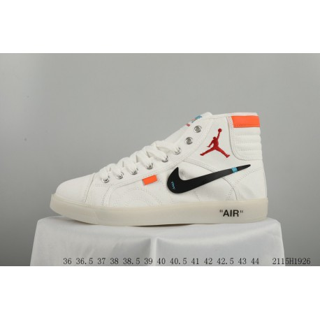 brand new cb46c 8b44a Overseas First Exposure Off White X Air Jordan Skyhigh OG Retro Jordan  Casual High Skate Shoes