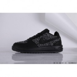 NIKE AIR Force 1 MID 07 Air Force One High Leisure Flyknit Knitting Skate Shoes 3229h0517