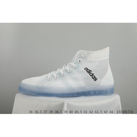 7ecff0465d6a FSR Adidas IDAS DAILY Team Adidas High Casual Skate Shoes Mesh Transparent  Sole OFF WHITE Crossover