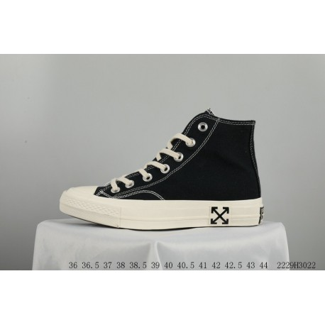 7f2e060fa13b Converse Crossover OFF-WHITE2.0 Yin And Yang Shoes High Two Tone Splicing  Black
