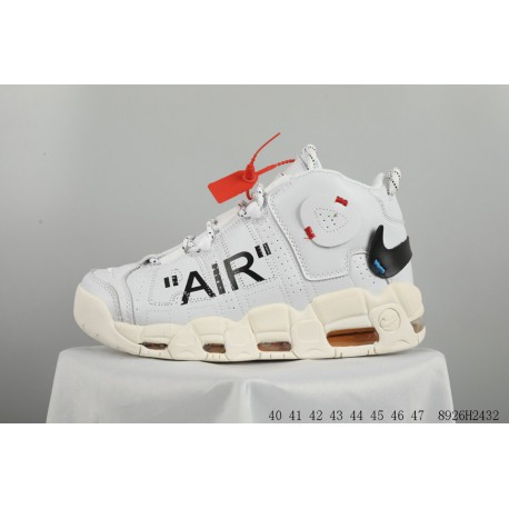 Nike The 10: Air Mare Uptempo OFF-WHITE 20 18 Deadstock Pippen Official Limited Edition Crossover Sports Casual Trainers Shoes