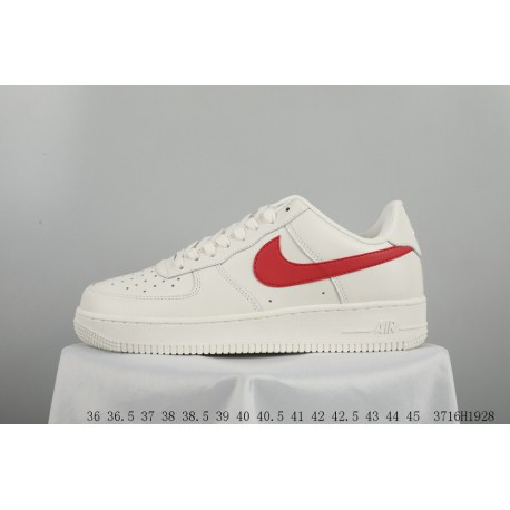 FSR NIKE AIR Force 1 MID Af1 White Red Air Force One Low Skate Shoes  3716h1928 c985f5d6c6f8