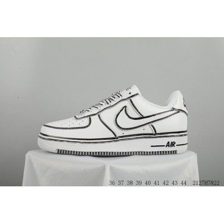 newest f8986 157d9 NIKE AIR Force 1 Af1 Air Force No. 1 Hand-Drawn graffiti skate shoes