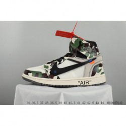 New colorway off-white X Jordan 1 Powder Blue Aj1 Joe 1 Crossover Camouflage New Colorway