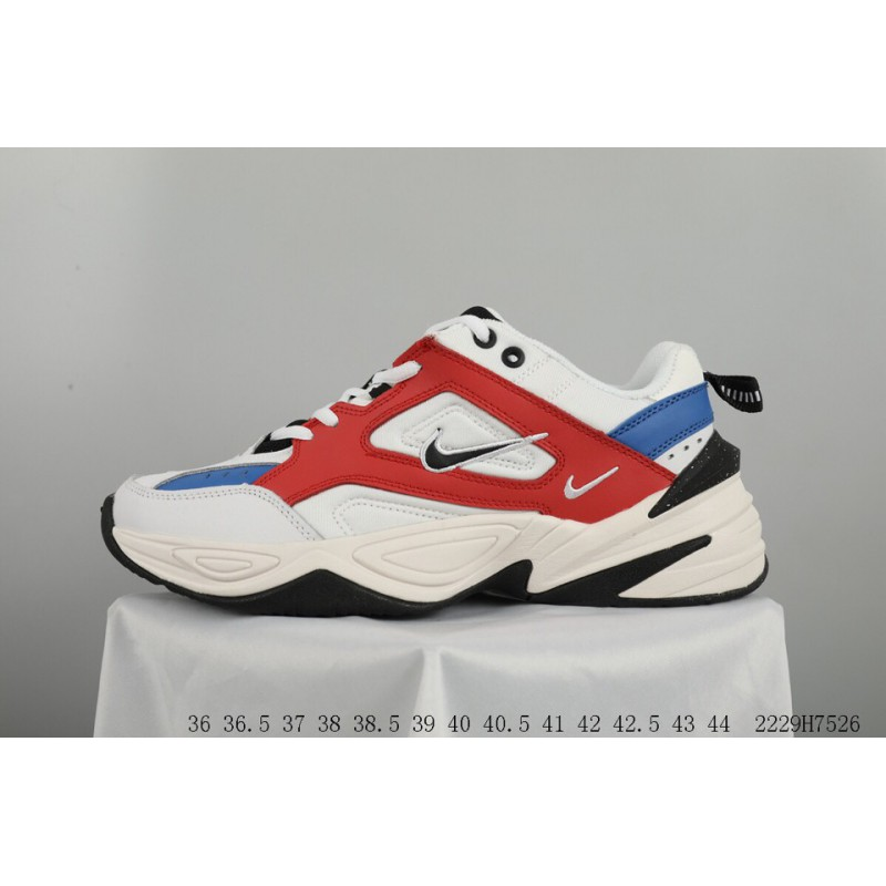 ... Nike Air Monarch 4 M2k Tekno Red Blue White Orange Vintage Dad Sneaker  Racing Shoes 2229h7526 ... 6d4b99451