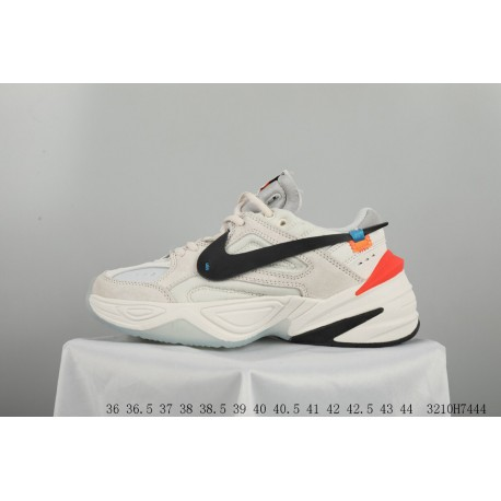 size 40 4e3ec 18567 Nike M2k Tekno X Off-white Crossover Vintage Dad Sneaker Pigskin Seat  Fixing Printing Ow