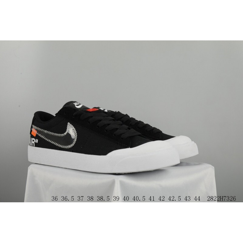 43fb7ac6a4bee ... OFF WHITE X NIKE SB Blazer Zoom Low Crossover Blazer Open Smile Skate  Shoes