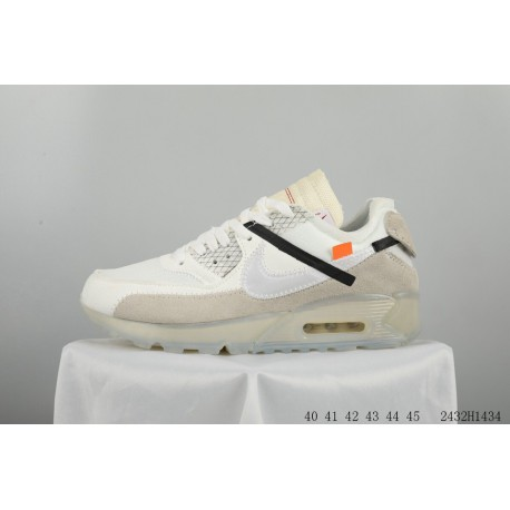 97da85c3a7 OFF WHITE Nike Air Max 90 Crossover Limited Edition Racing Shoes 2432h1434
