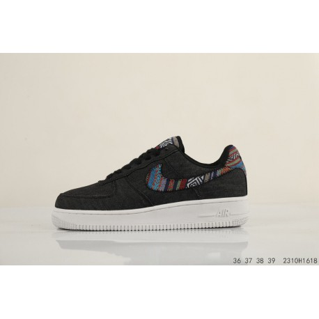 separation shoes 84eb3 ed61f NIKE AIR Force 1 07 LV8 Air Force One Vintage Woven Embroidery Famous  Casual Skate Shoes