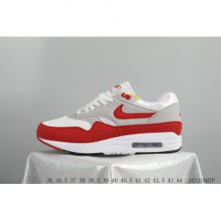 Nike Air Max 1 OG 30th Anniversary Original Retro White Red Trainers Shoes 243210qtp