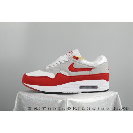 bab7f77ef22a4 Nike Air Max 1 OG 30th Anniversary Original Retro White Red Trainers Shoes  243210qtp
