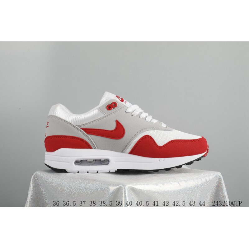 ... Nike Air Max 1 OG 30th Anniversary Original Retro White Red Trainers  Shoes 243210qtp ... 839189e71