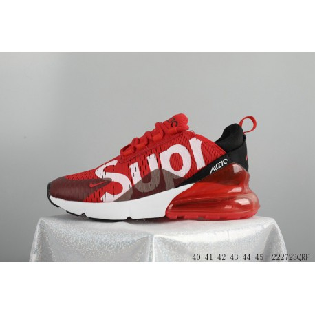 Nike Supreme Gato Where To Buy,Nike Supreme Uptempo Where To Buy,Nike Air MAX270 x Supreme Seat Half Palm Air Mesh Breathing Jo
