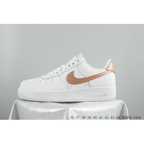 Gold Nike Shoes For Sale,Nike Air Huarache Gold For Sale,Nike air force 1 low AF1 Air Force One 35th Anniversary White Rose Gol